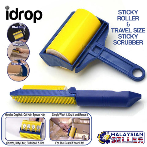 idrop STICKY CLEANER - Cleaning Roller & Travel Size Sticky Scrub