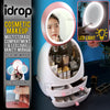 idrop Portable Multistorage Cosmetic Makeup Storage Compartment with LED Light Vanity Mirror