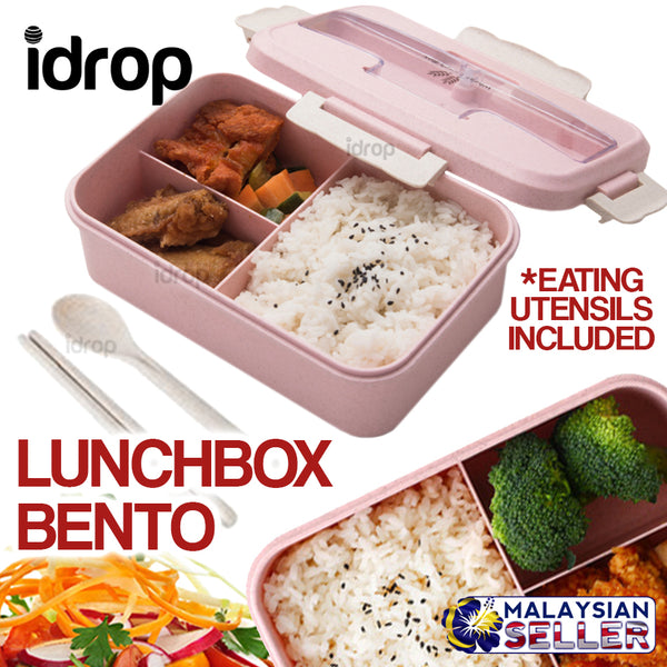 idrop LUNCHBOX BENTO- Portable Lunch Box with Eating Utensils
