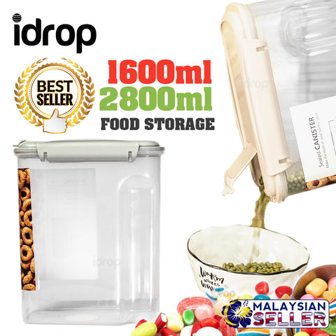 idrop [ 1600ml / 2800ml ] Dry Food Storage Container