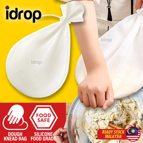 idrop Reusable Kitchen Soft Flexible Durable Silicone Dough Kneading Bag & Food Marinating Bag