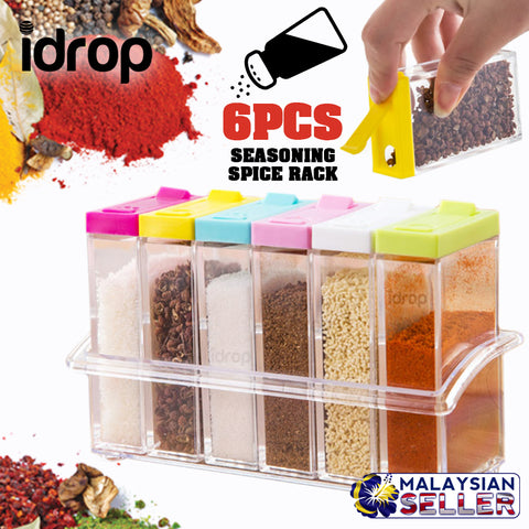 idrop [ 6PCS ] Seasoning Spice Rack Storage