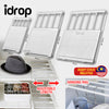 idrop Multifunction Wardrobe Cabinet Adjustable Length Storage Shelf Rack