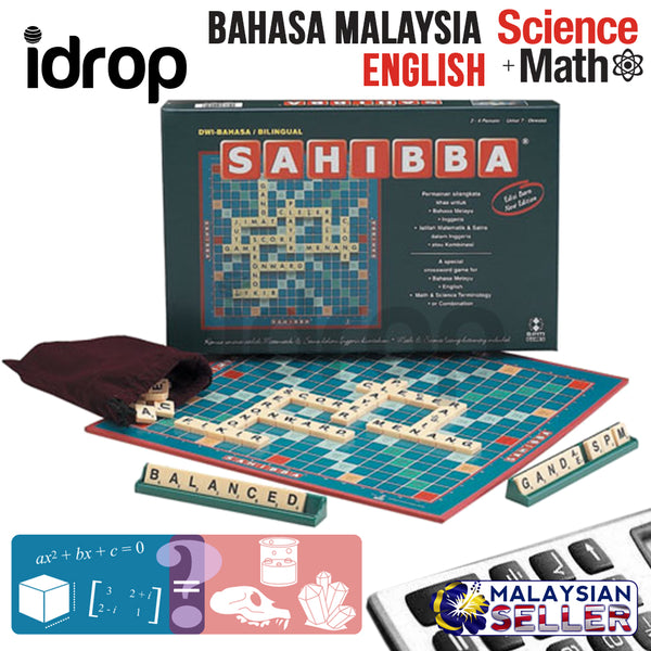 idrop SAHIBBA Bahasa Malaysia / English / Maths & Science Edition [ SPM GAMES ] SPM170