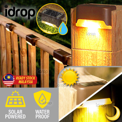 idrop Solar Rechargeable Automatic Waterproof IP65 Smart Step Light [ 1pc ]