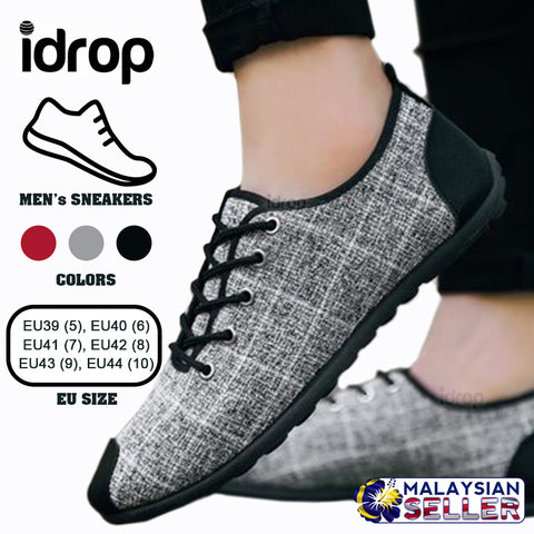 idrop Men's Casual Canvas Sneakers