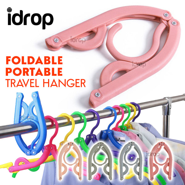idrop Foldable Portable Travelling Hanger - Folding Travel Clothes Hanger [ 1pc ]