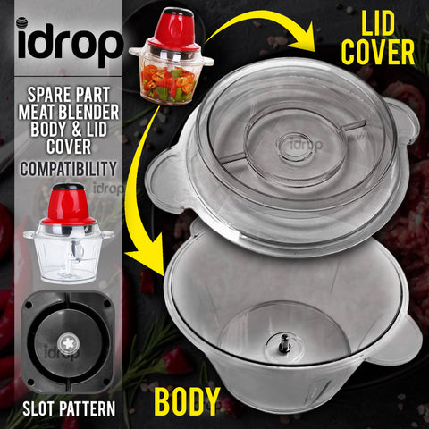 idrop [ Replacement Part ] Meat Blender Body + Lid Cover Spare Part / Alat Bahagian Ganti Mesin Kisar Pengisar