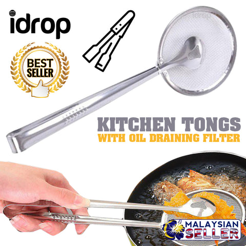 idrop FILTER CLIPPER - Kitchen Cooking Frying Tongs