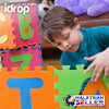 idrop Alphabet Puzzle Color Mat with Random Colorful Colors For Children Education