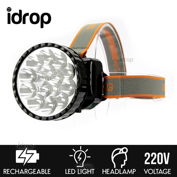 idrop Adjustable Rechargeable Camping LED Headlamp - Outdoor Portable Head Mounted Flashlight DN815