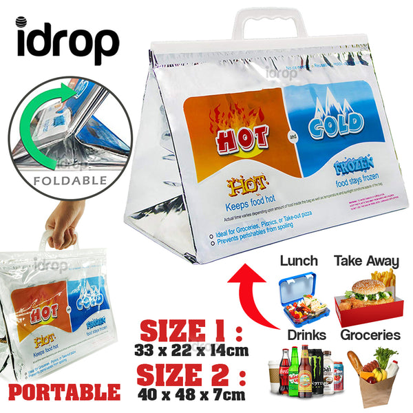 idrop Foldable Thermal Insulated Cold and Hot Food Storage Bag