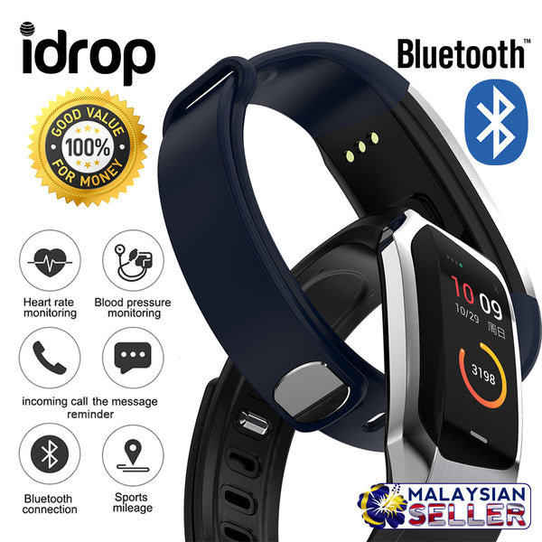 idrop E18 Sports Health Smart Watch - Bluetooth IP67 Waterproof Bracelet Band