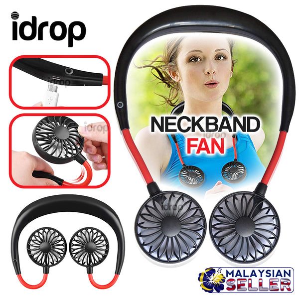 idrop NECKBAND FAN - Wearable Neck Hanging USB Cooling Mini Fan