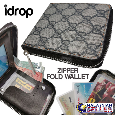 idrop Zipper Fold Wallet