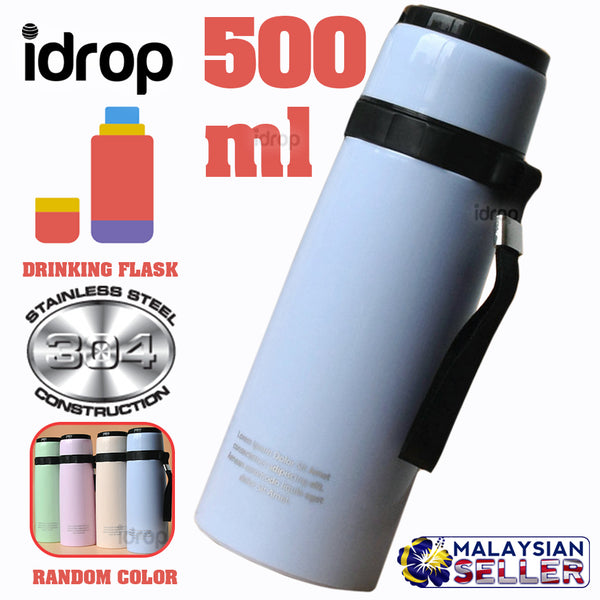 idrop 500ml Convenient Casual Drinking Flask