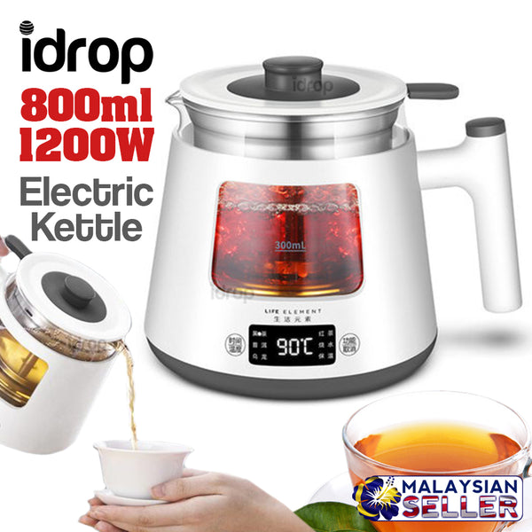 idrop 800ml LIFE ELEMENT 1200W Electric Kettle [ I19 ]
