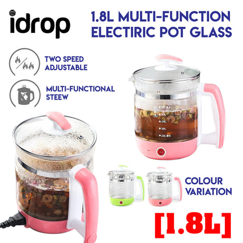 idrop 1.8L Multi-Function Health Electric Pot Glass