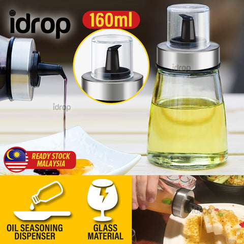 idrop 160ml Oil & Seasoning Sauce Dispenser Bottle Jar [ 1pc ]