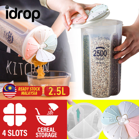 idrop 2.5L Grain Bean Coffee Snack Separator Storage Container