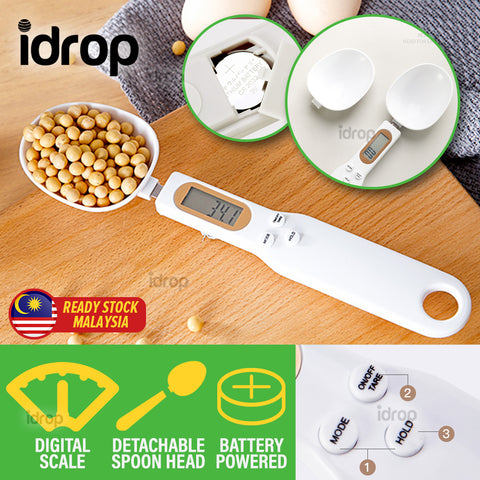 idrop Kitchen Measuring Digital Spoon Scale Detachable Spoon Head