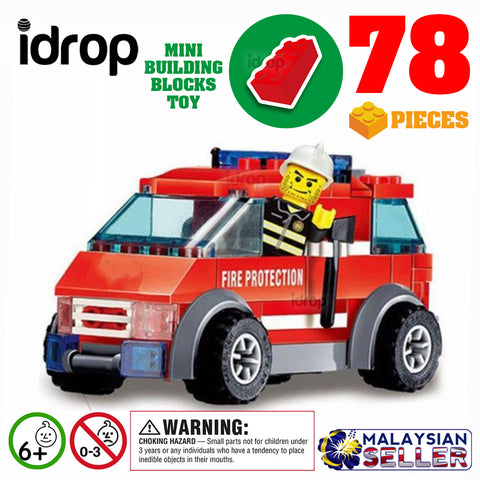 idrop [ FIRE FIGHTING ] City Series Building Block Toy ( 78 pcs )