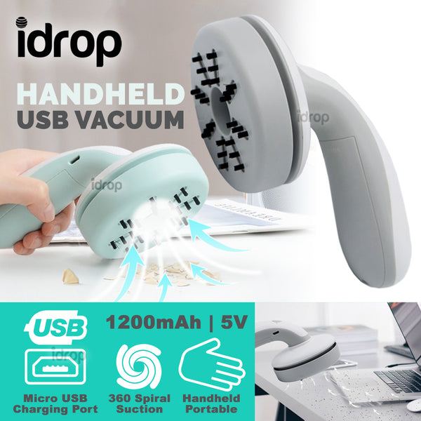 idrop Handheld Cordless Wireless Mini USB Rechargeable Suction Vacuum Cleaner