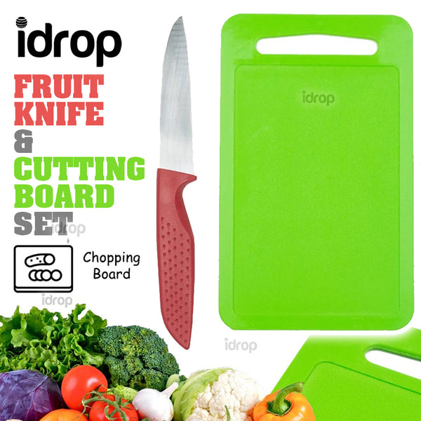 idrop Fruit Cutting Knife and Chopping Board Set Cutlery Kitchen Tools