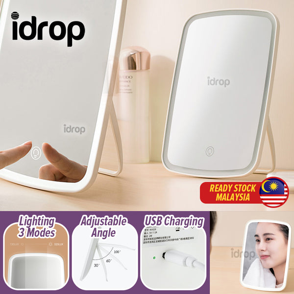 idrop Makeup Cosmetic Vanity Mirror with LED Bright Light & USB Rechargeable Battery