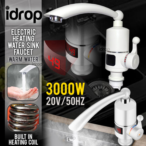 idrop ELECTRIC FAUCET - Electrical Water Pipe with Adjustable Heat Temperature