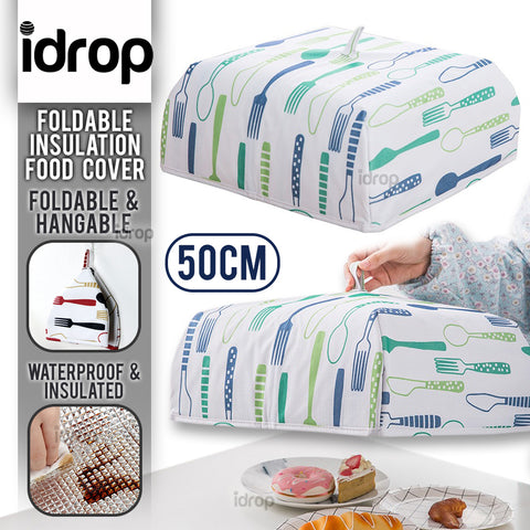 idrop Foldable Large Foil Heat Insulation Waterproof Dustproof Food Cover / Tudung Saji Makanan