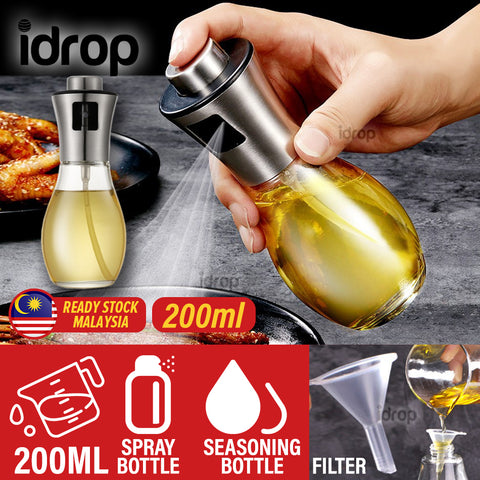 idrop 200ML Kitchen Seasoning Spray Glass Oil Bottle
