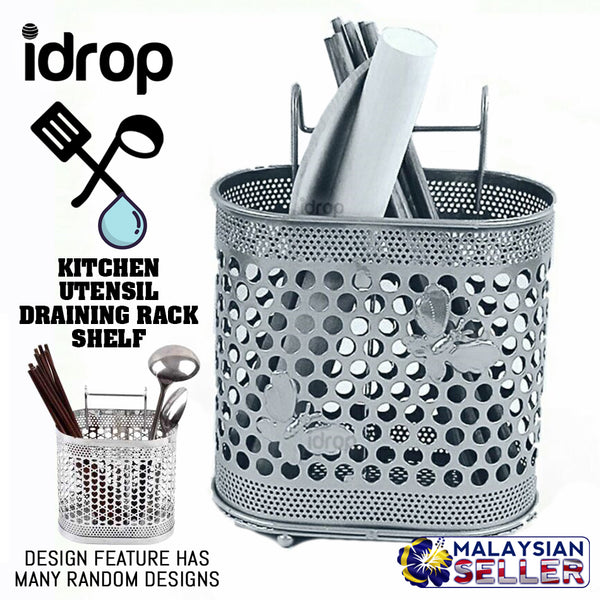 idrop Kitchen Hanging Utensil Draining Rack Storage