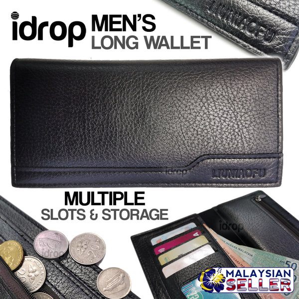 idrop Men's Fold Over Long Wallet Series [ LIUNIAOFU  ]