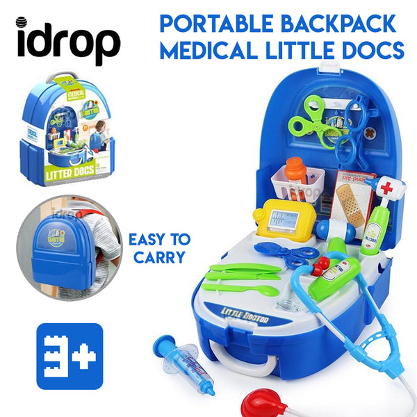 Idrop Portable Backpack Pretend Game Medical Little Docs Toys