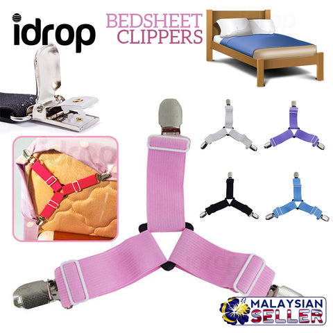 idrop BEDSHEET TRI CLIPPERS - Bed Sheet Clip [ 4 PCS 1 SET ]