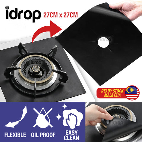 idrop Non Stick Reusable Gas Hob Anti Oil Stove Protector