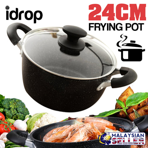 idrop 24cm EMOOJOO Frying Pot - Kitchen Cooking Fry Pot