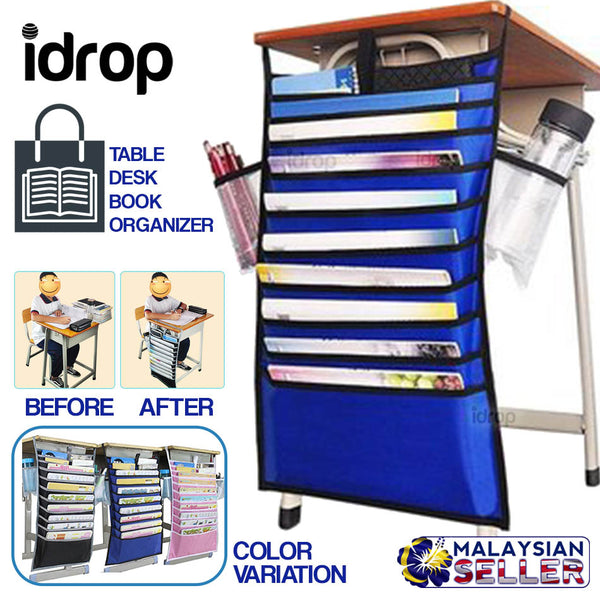 idrop Table Desk Book Hanging Organizer Storage Bag