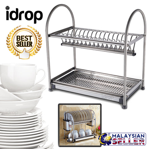 idrop 2 LAYER - TERISO Kitchen Dish Rack Shelf