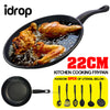 idrop 1PC Kitchen Cookware Frying Pan [ 22CM ] + 3PCS Cooking Utensils