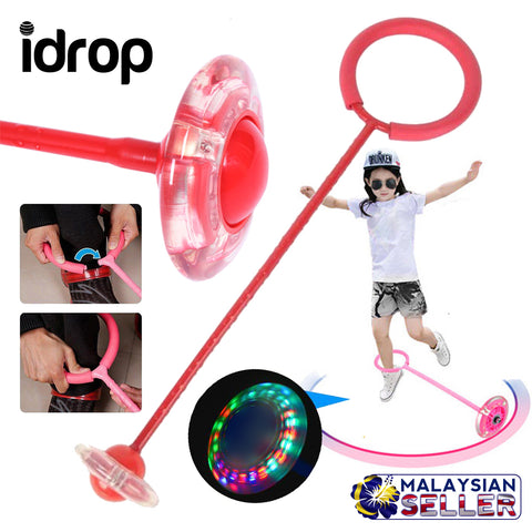 idrop Jump & Spin  Children Wheel Skipping Stick Toy - Kids Jumping & Spinning Outdoor Fun Play