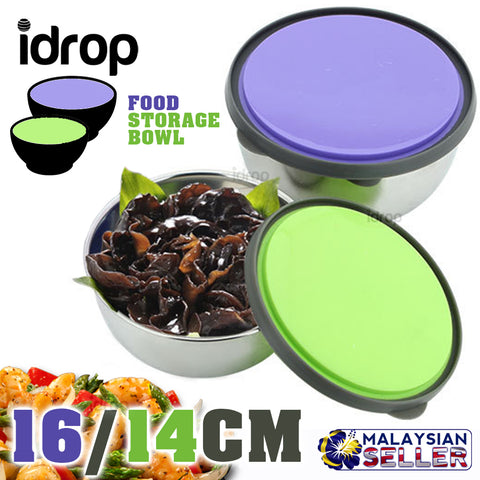idrop Stainless Steel Food Packing Portable Bowl [ 14&16CM ]