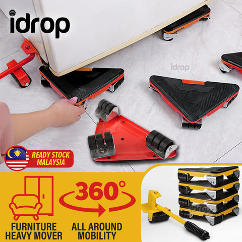 idrop Heavy Duty Furniture Lifter Mover and Moving Slider Tool Set