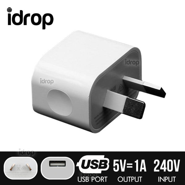 idrop USB Charger Plug Head AU [ Australia Regulation Standard ]
