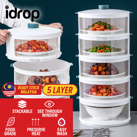idrop [ 5 LAYER ] Multilayer Stackable Heat Insulation Food Meal Dish Storage
