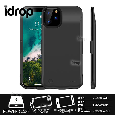 idrop 2 IN 1 Smartphone Powercase Powerbank Protective Battery Charger Casing compatible for [ iP 11 /  iP 11 Pro / iP 11 Pro Max ]