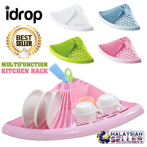 idrop Multifunction Kitchen Dish Utensil Cup Drying Drainer Rack