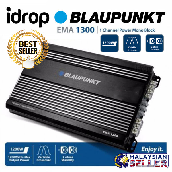 idrop BLAUPUNKT EMA 1300 - 1 Channel Power Mono Block Amplifier