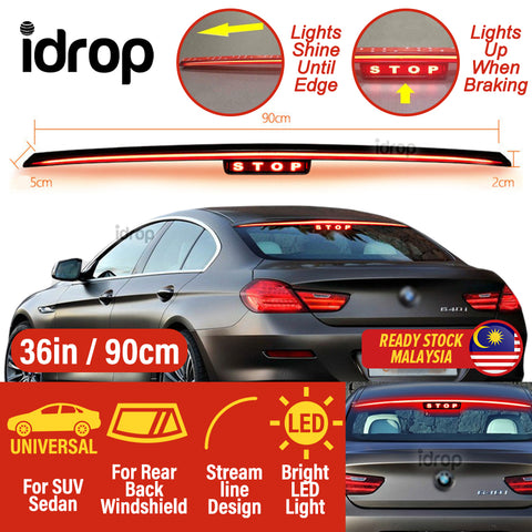 idrop STOP 36 INCH LED Car Rear Brake Light Streamline Design Universal for SUV Sedan Rear Roofline [ 12V / 9W ]